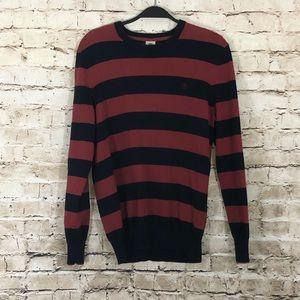 Red/navy regular fit crewneck timberland sweater M
